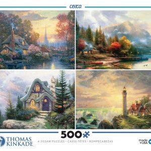 Thomas Kinkade 4 x 500 PC Jigsaw puzzle
