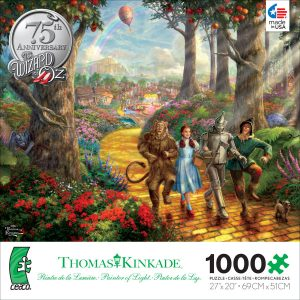 Thomas Kinkade Follow the Yellow Brick Rd 1000 PC Jigsaw Puzzle