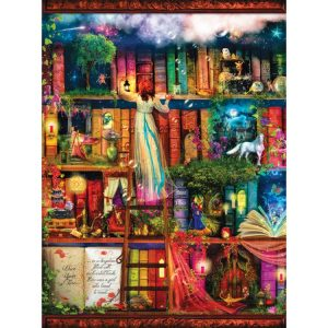 Treasure Hunt Bookshelf 1000 PC Jigsaw Puzzle