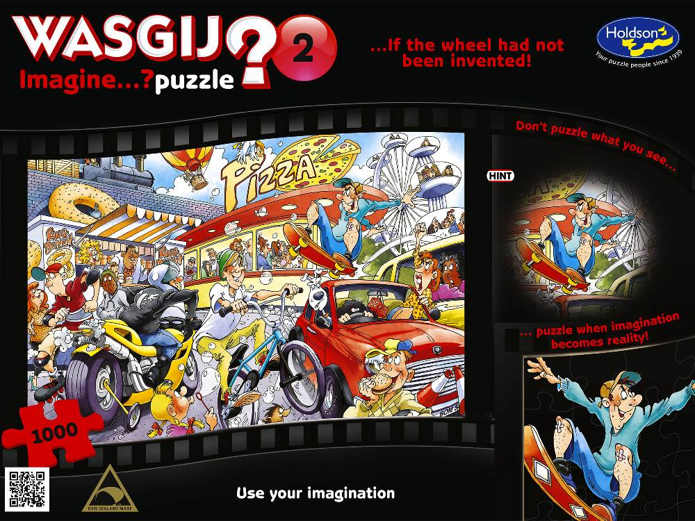 Wasgij Imagine 2 If the Wheel had not been invented 1000 PC Jigsaw Puzzle