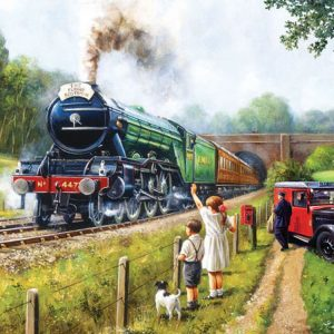 Watching the trains 1000 PC Jigsaw Puzzle