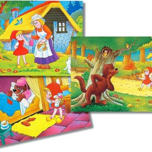 Little Red Riding Hood 3 x 26 PC Jigsaw Puzzle