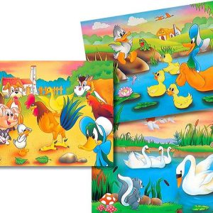 The Ugly Duckling 3 x 26 PC Jigsaw Puzzle