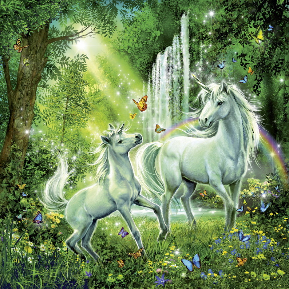 Pictures Of Kids Cars >> Beautiful Unicorns 3 x 49 PC Ravensburger Jigsaw Puzzle