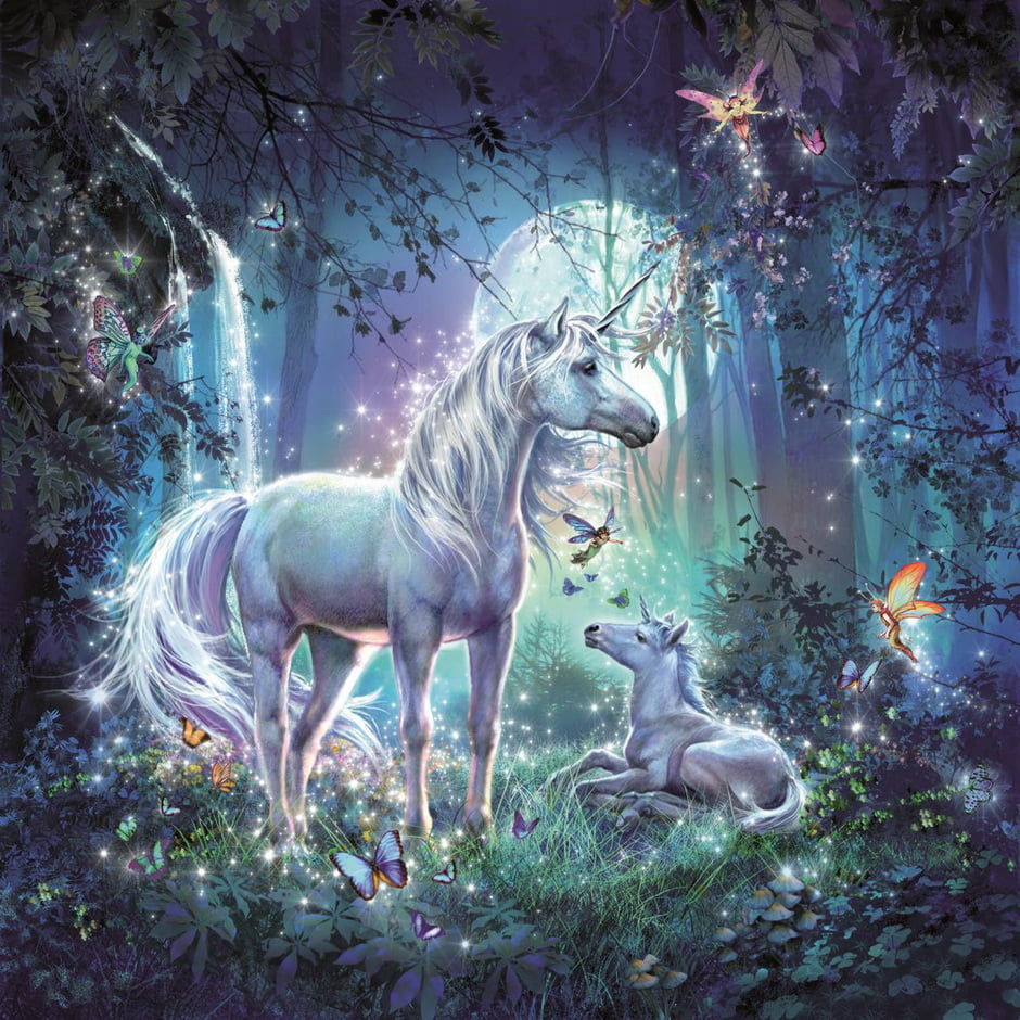 Pictures Of Beautiful Bedrooms And Living Rooms: Beautiful Unicorns 3 X 49 PC Ravensburger Jigsaw Puzzle
