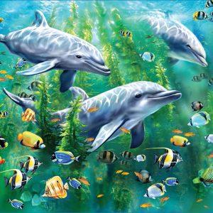 Dolphin Trio 100 PC Jigsaw Puzzle