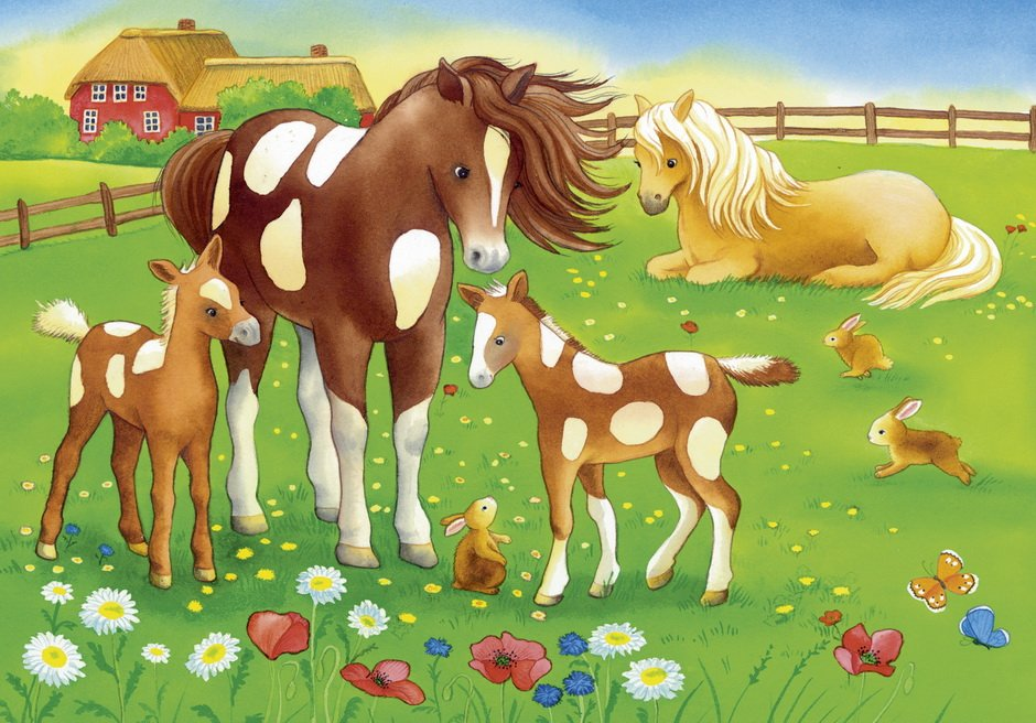 flowing-manes-2-x-12-pc-jigsaw-puzzle-