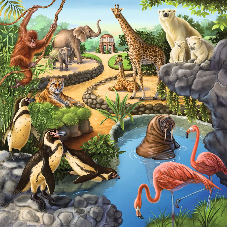 Forest Zoo & Pets 3 x 49 PC Jigsaw Puzzle