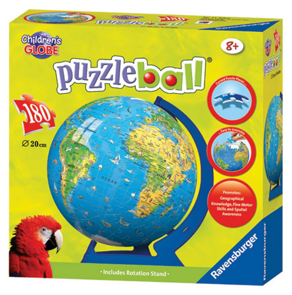 3d giant globe puzzle ball stand 180 piece ravensburger. Black Bedroom Furniture Sets. Home Design Ideas