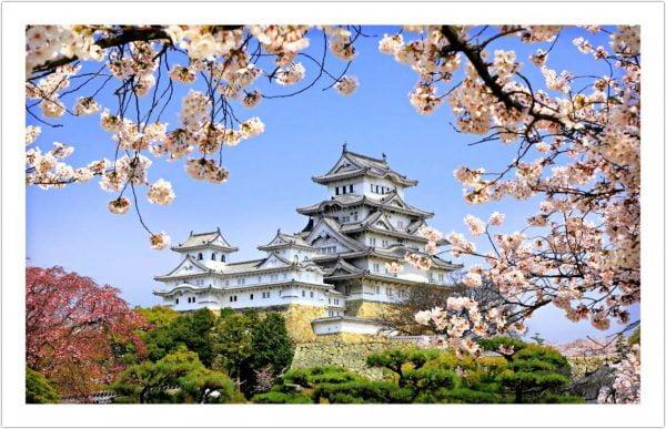 Himeji-Jo Cherry Blossom 1000 Piece Puzzle