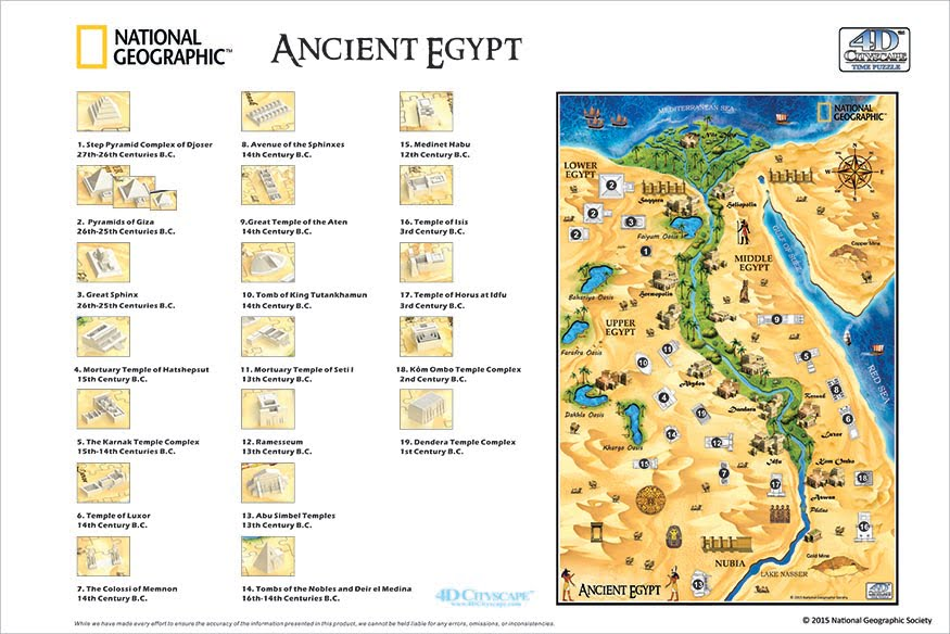 NATIONAL GEOGRAPHIC D ANCIENT EGYPT TIME PUZZLE PUZZLE PALACE - Map of egypt national geographic