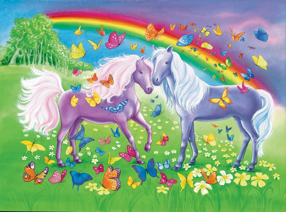 Rainbow Horses 2 x 24 PC Jigsaw Puzzle