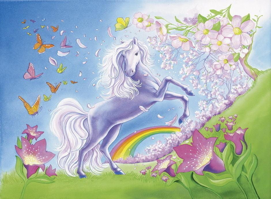 Rainbow Horses 2 x 24 Piece Jigsaw Puzzle