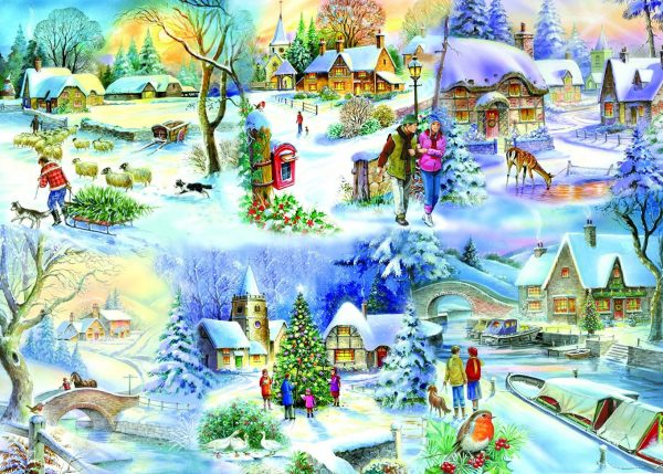 Snowy Afternoon 500 LGE PC Jigsaw Puzzle