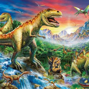 Time of the Dinosaurs 100 PC Jigsaw Puzzle