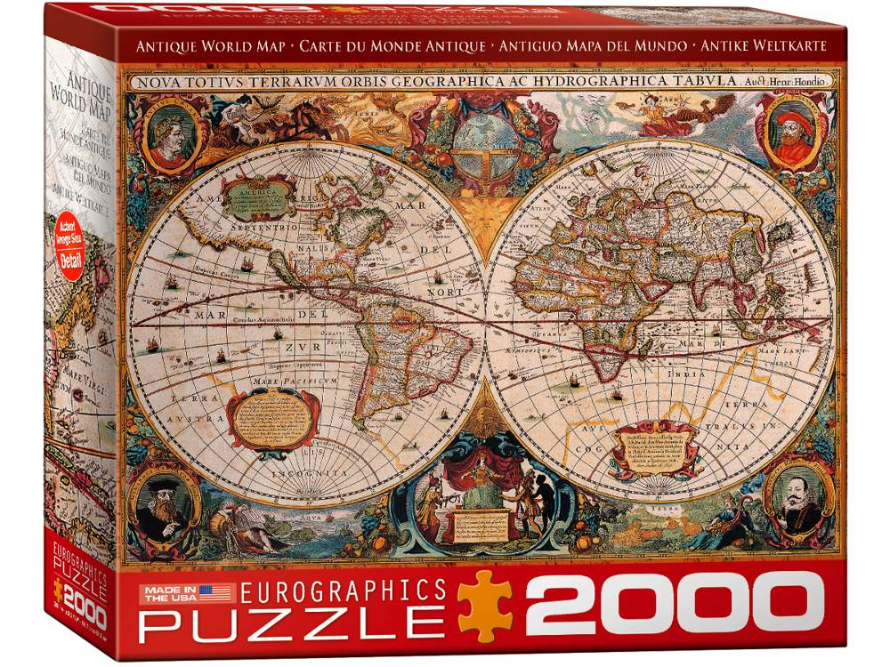 Eurographics Jigsaw Puzzle Antique World Map PC - Antique world map picture