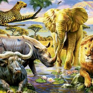 The Big Five 1000 Piece Educa Puzzle