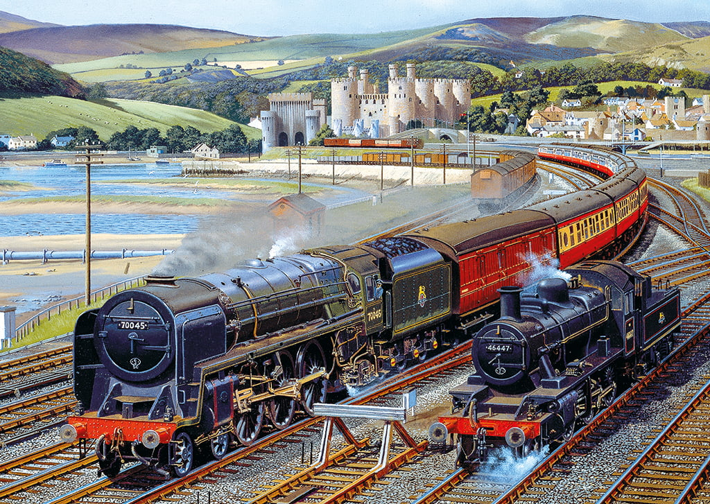 The Glory Of Steam 4 X 500 Pc Jigsaw Puzzle Puzzle