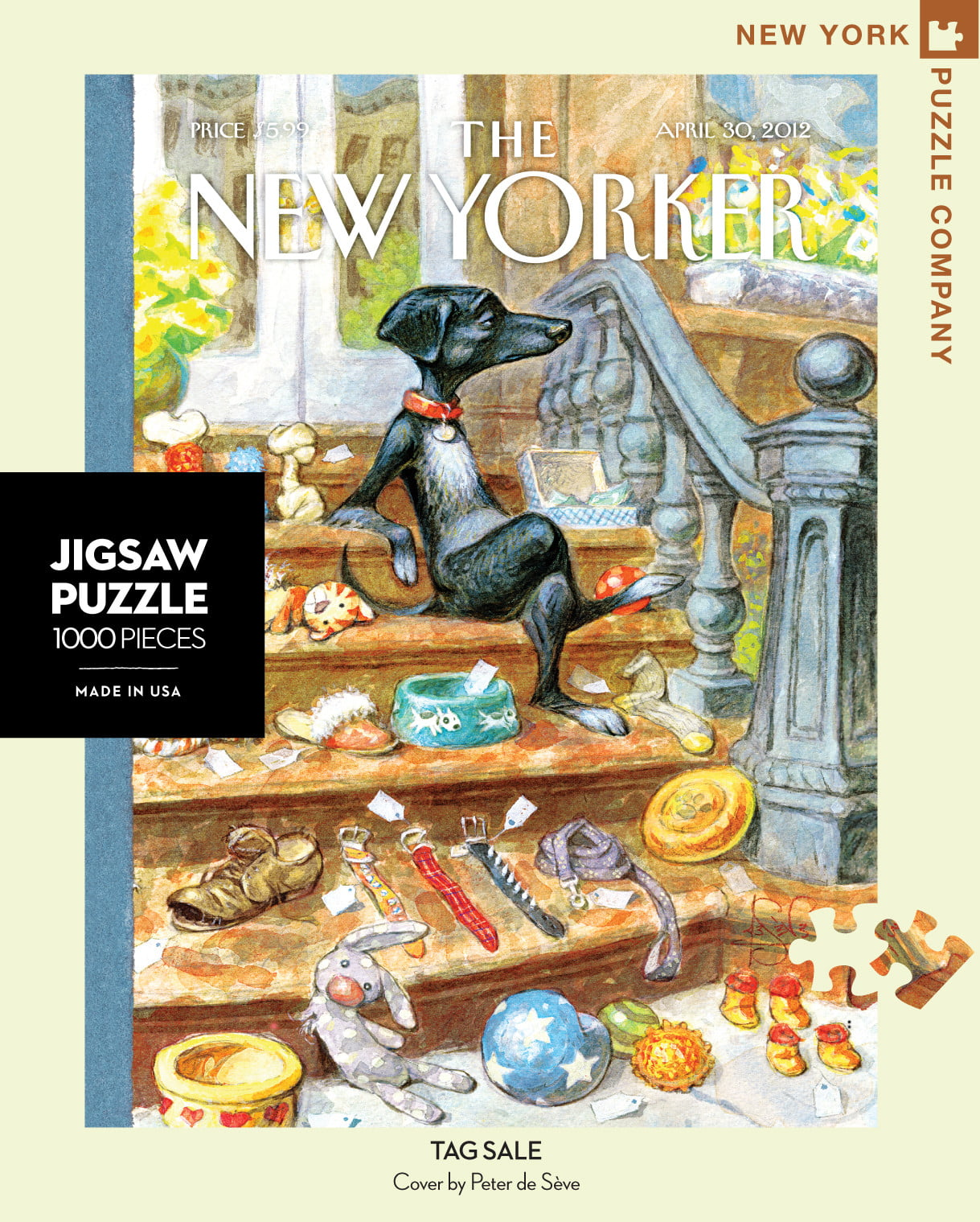 the new yorker tag sale 1000 pc jigsaw puzzle. Black Bedroom Furniture Sets. Home Design Ideas