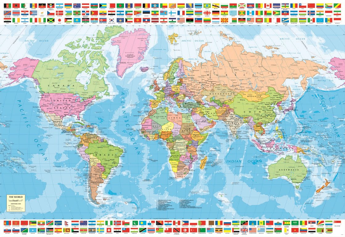 Political World Map PC Educa Jigsaw Puzzle PUZZLE PALACE - Political world map