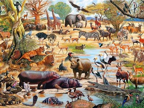 African Paradise 1500 Piece Jigsaw Puzzle