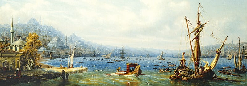 Boats on the Bosphorus 1000 PC Jigsaw Puzzle