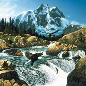 Fishing at Eagle Rock 1024 PC Jigsaw Puzzle
