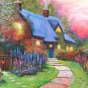 Floral Cottage 1500 PC Jigsaw Puzzle