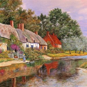 Little Girl by the Lake 1500 PC Jigsaw Puzzle