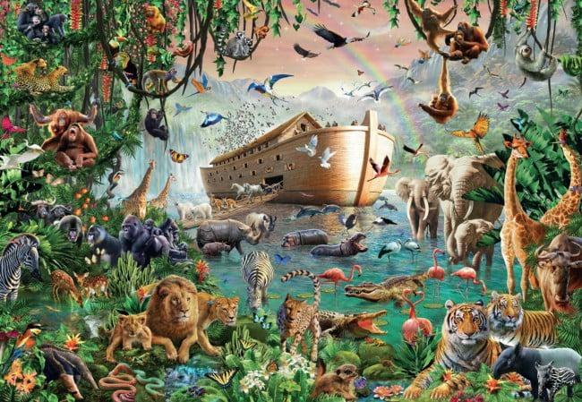 4000 piece noah 39 s ark jigsaw puzzle puzzle palace australia. Black Bedroom Furniture Sets. Home Design Ideas
