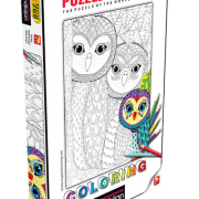 Owls Family 260 PC Colouring Puzzle