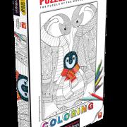 Penguin Family 500 PC Colouring Puzzle