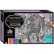 Through the Fields 500 PC Colouring Jigsaw Puzzle