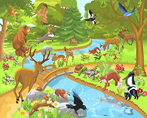 Animals in the Forest 80 PC Jigsaw Puzzle