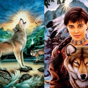 Spirit of Wolf 2 x 500 PC Jigsaw Puzzle