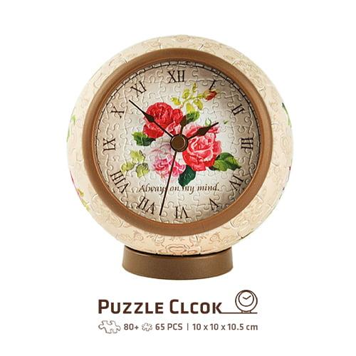 Puzzle Clcock Classic Rose 145 PC