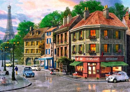 trefl jigsaw puzzle street of paris 6000 pc puzzle. Black Bedroom Furniture Sets. Home Design Ideas