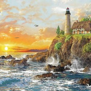 Sunset by the Rocky Coast 3000 PC Jigsaw Puzzle