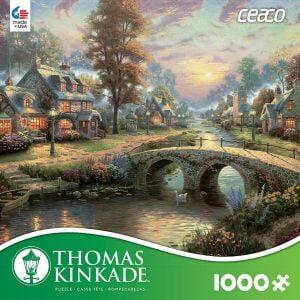 Sunset on Lamplight Lane 1000 PC Jigsaw Puzzle
