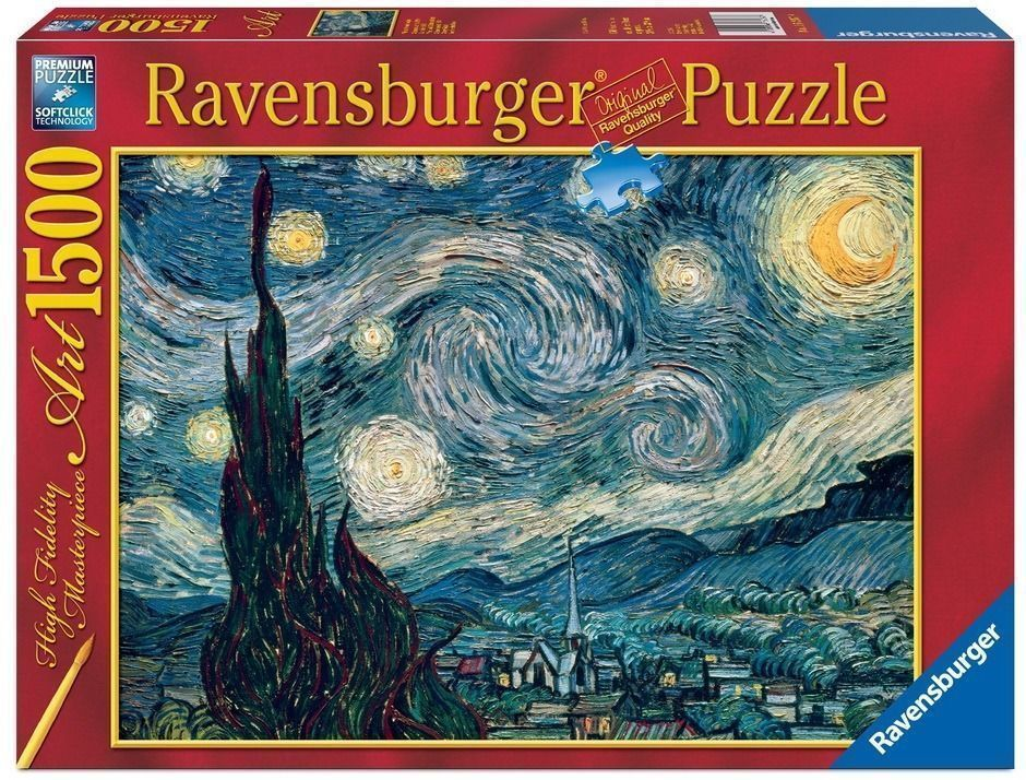 Van Gogh Starry Night 1500 PC Jigsaw Puzzle