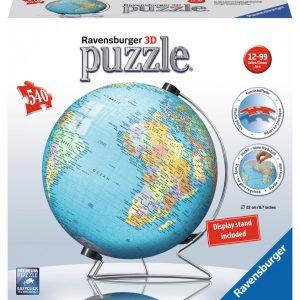 World Globe 3D 540 Piece Puzzle