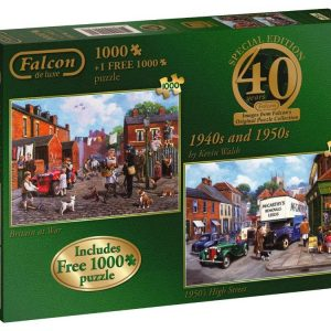 40th Anniversary 1940s and 1950s 2 x 1000 piece Jigsaw puzzles