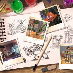 Disney Pixar Sketches 1000 Piece Jigsaw Puzzle