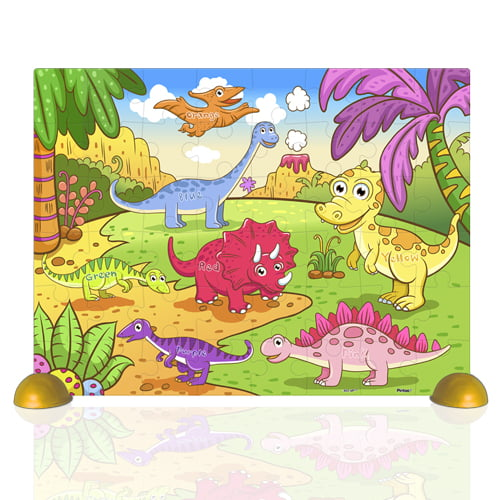 The Cheerful Dinosaurs 48 PC Children's Jigsaw Puzzle