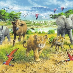 African Animal Babies 300 PC Jigsw Puzzle