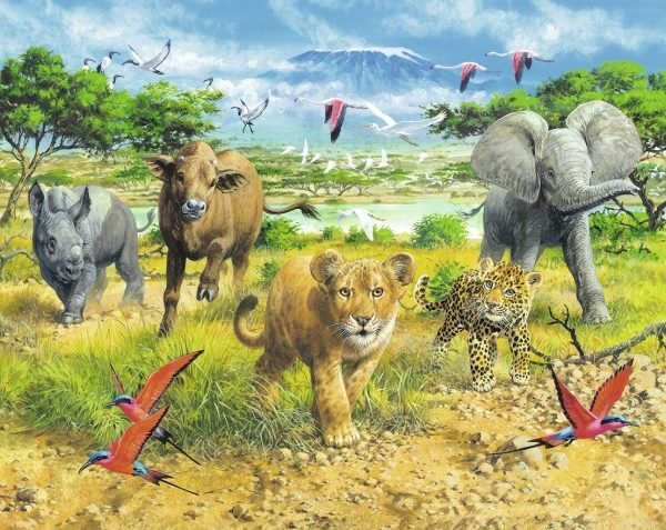 African Animal Babies 300 PC Jigsaw Puzzle