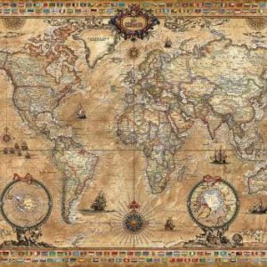 Antique World Map 1000 PC Educa Jigsaw Puzzle