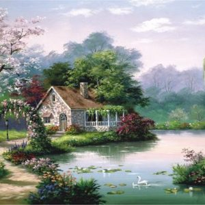 Arbor Cottage 260 PC Anatolian Jigsaw Puzzle