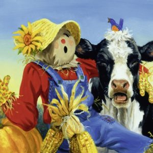 Barnyard Duet 300 PC Large Format Jigsaw Puzzle