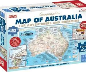 Blue Opal Map of Australia for Adventurers 1000 PC Jigsaw Puzzle